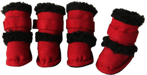 Pet Life ® 'Duggz' 3M Insulated Winter Fashion Dog Shoes Booties - Set of 4