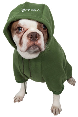 Pet Life ® 'American Classic' Fashion Plush Cotton Hooded Dog Sweater
