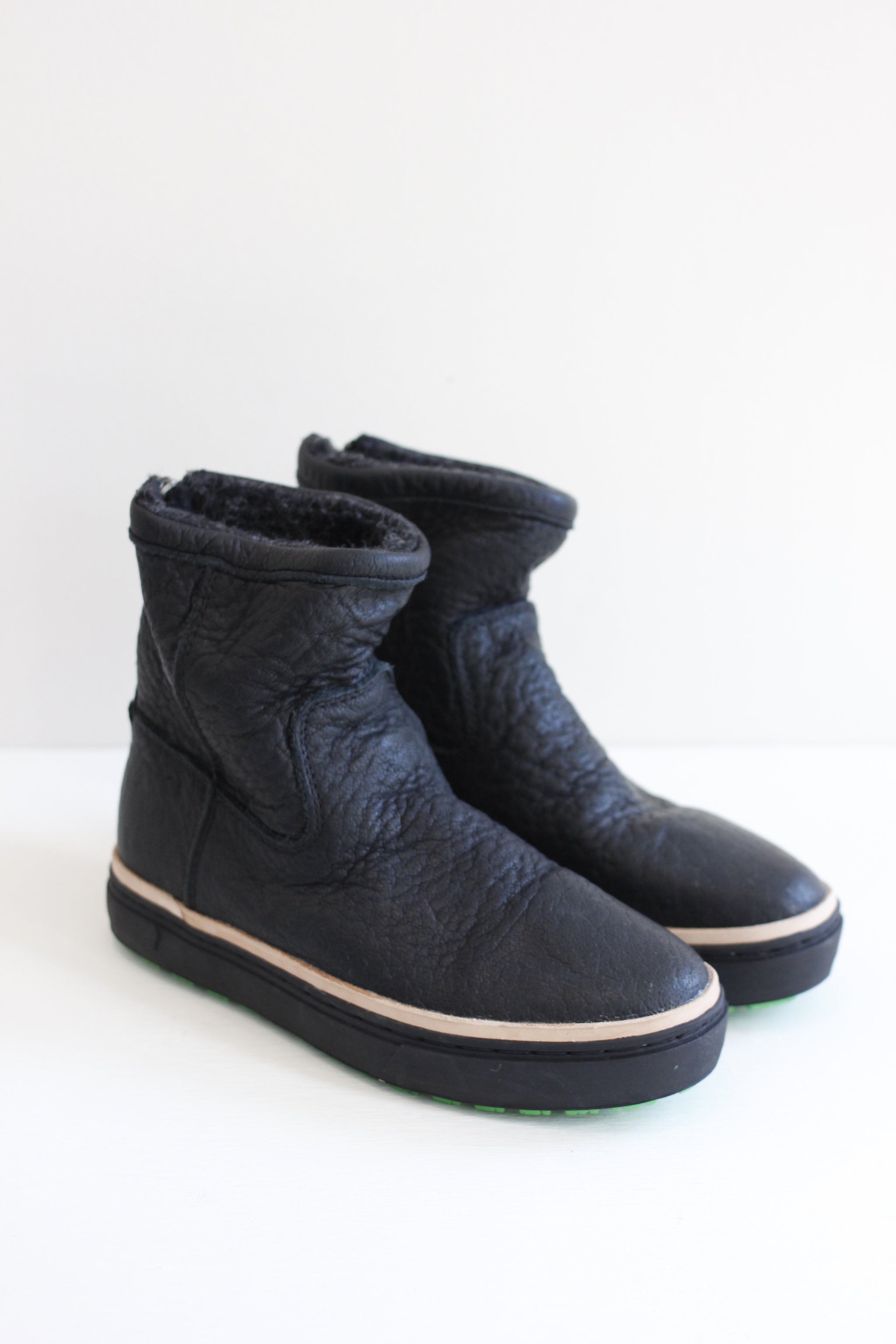 Satorisan black leather boot