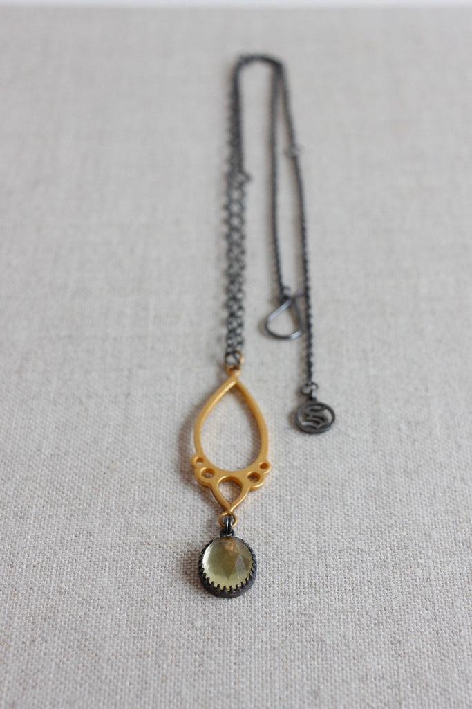 Symbiotique Precious necklace in sterling silver and vermeil