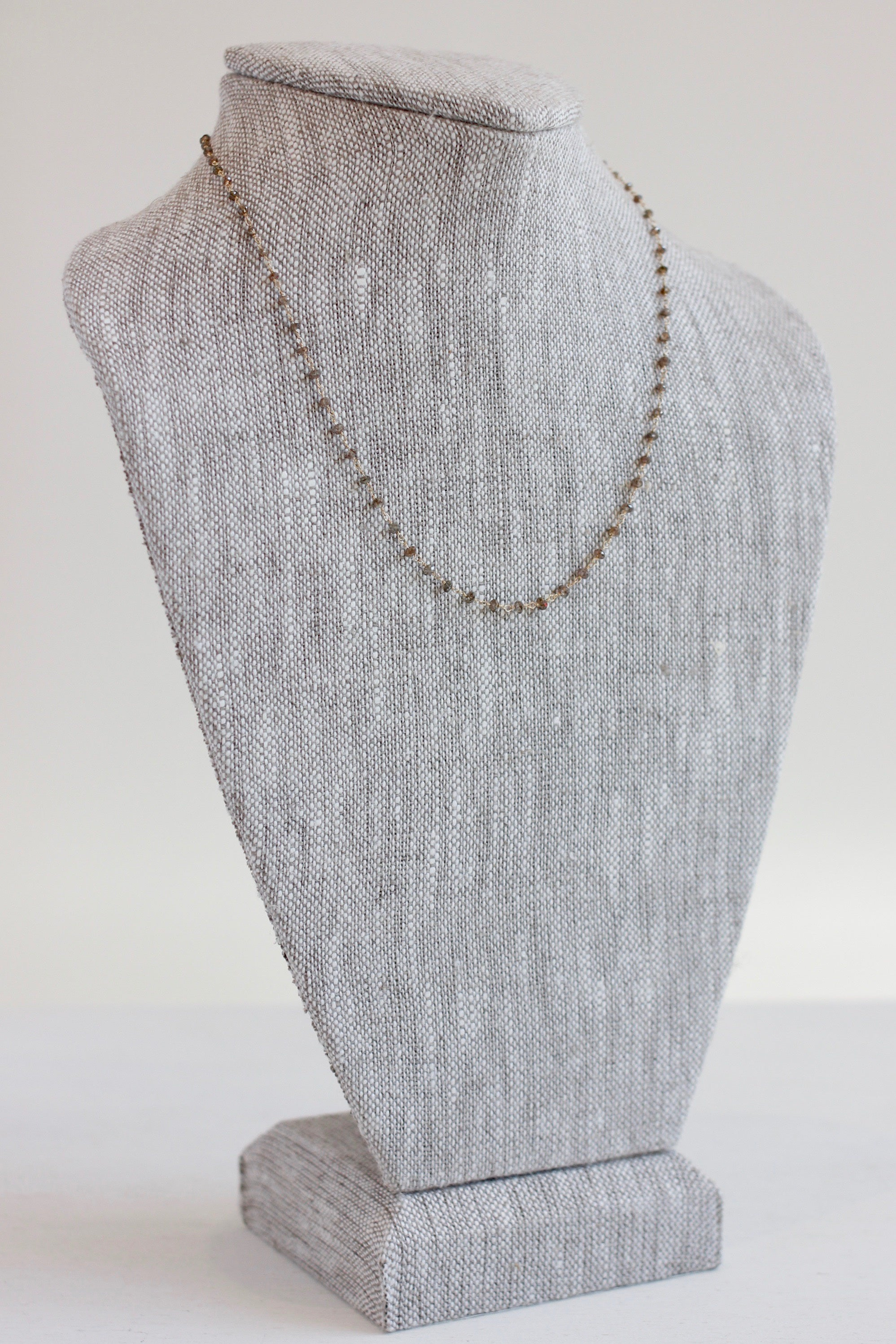 Dawn Bryfogle champagne diamond necklace