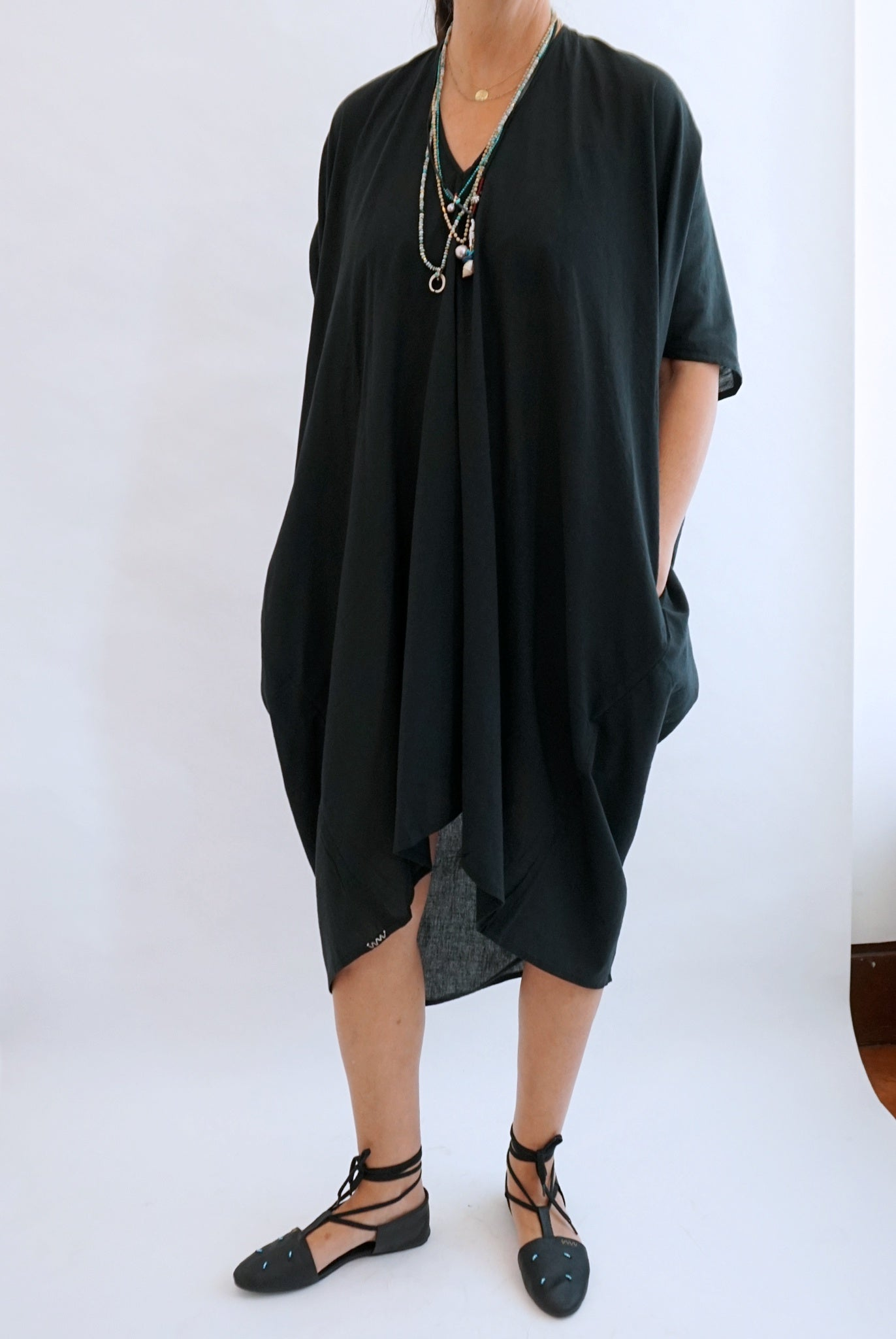 VISVIM Black Ruana Dress