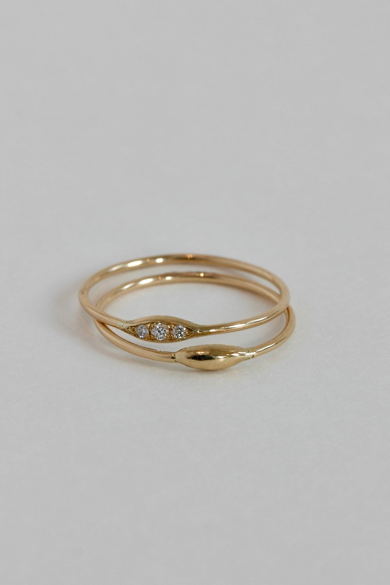 Hortense 14k gold rings