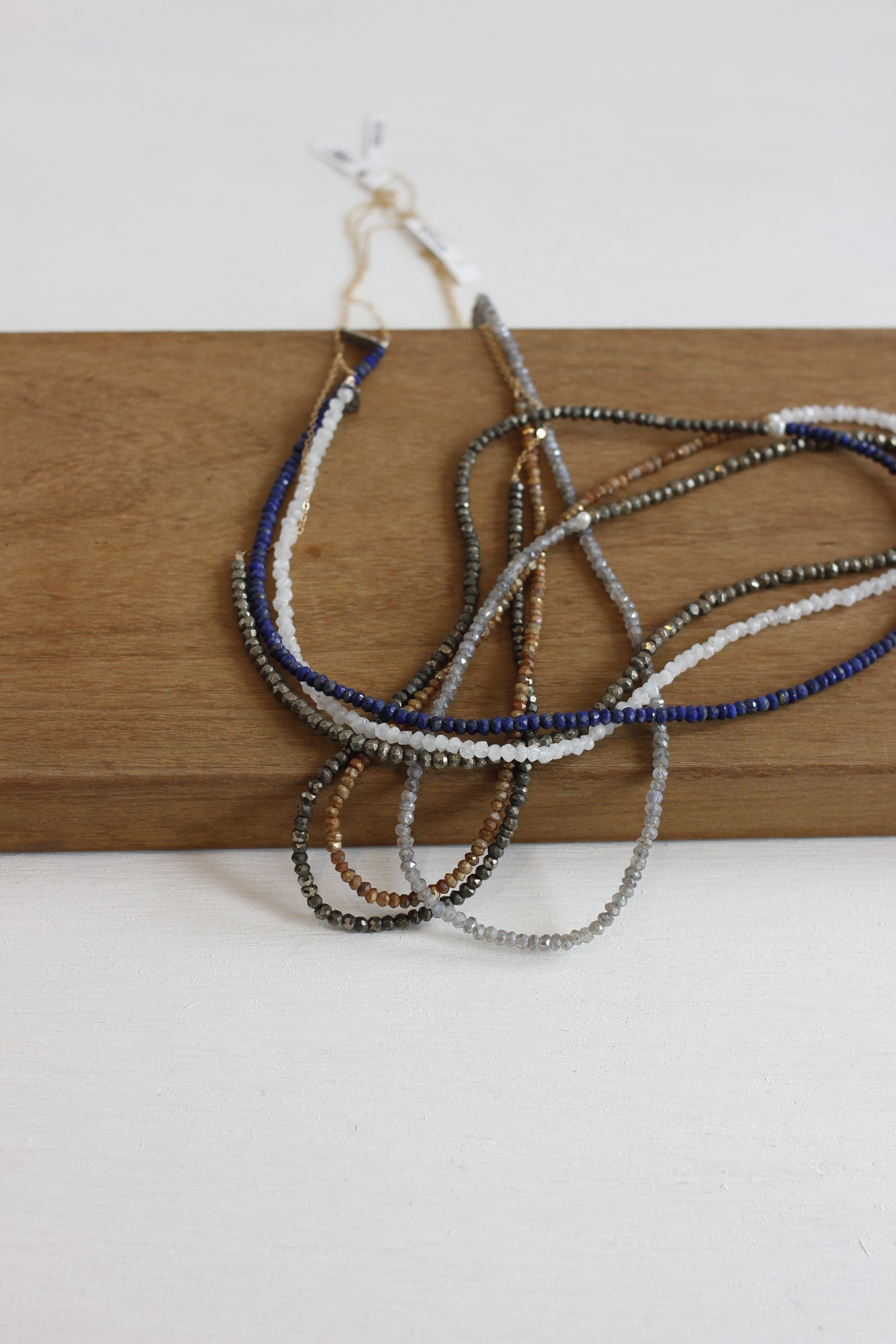 CLP chain and gemstone combo necklace