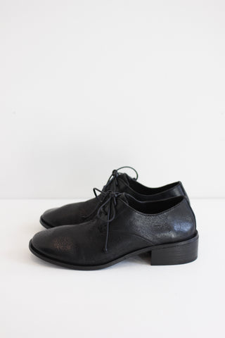 Marsell black leather oxfords