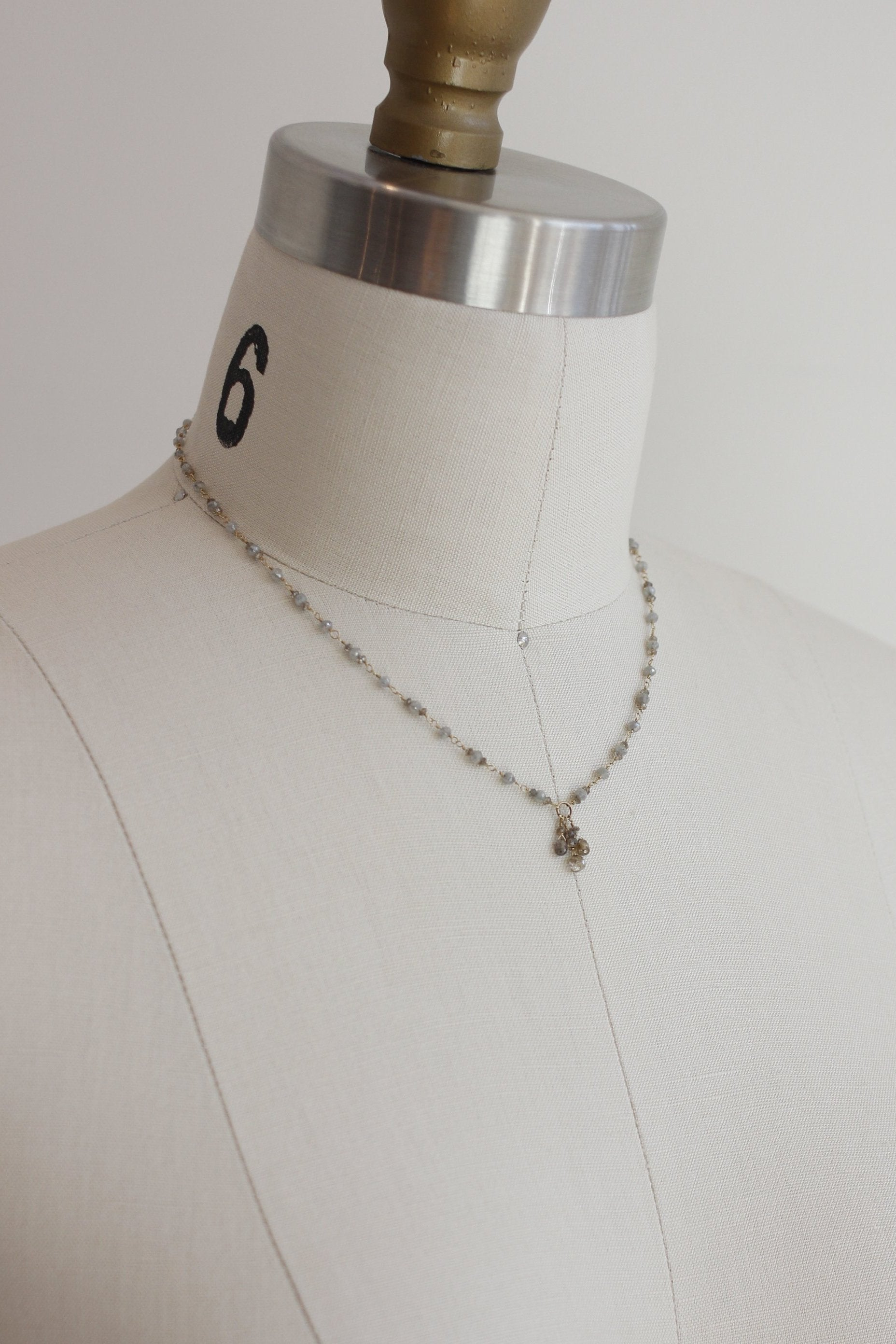 Dawn Bryfogle diamond necklace with briolette pendant