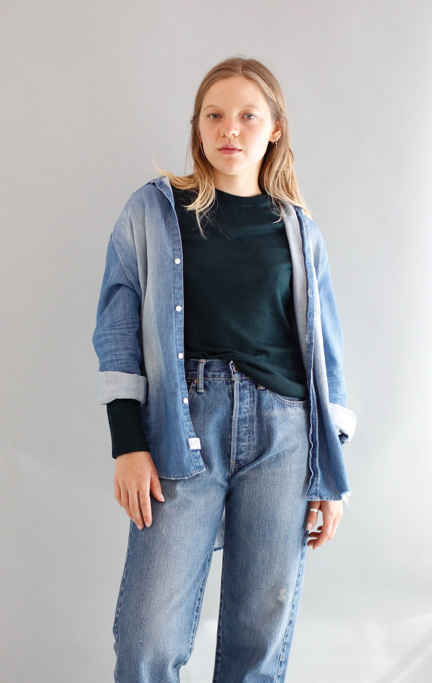 Frank & Eileen denim button-up shirt