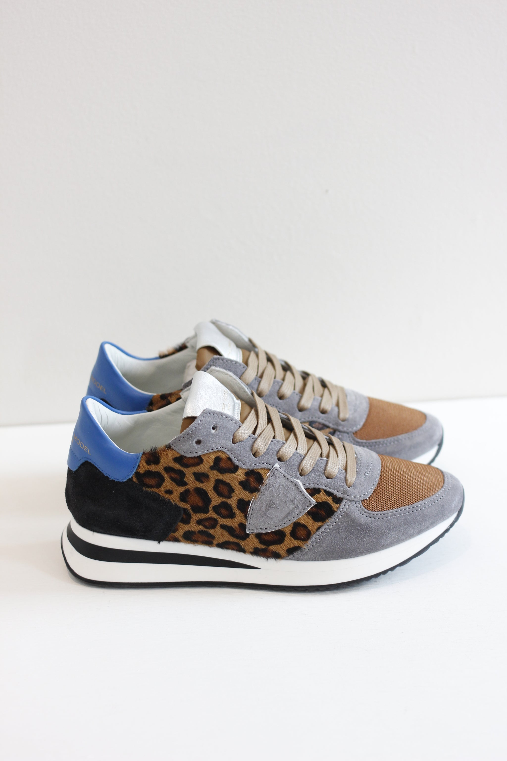 Stylish Italian sneaker with animal print