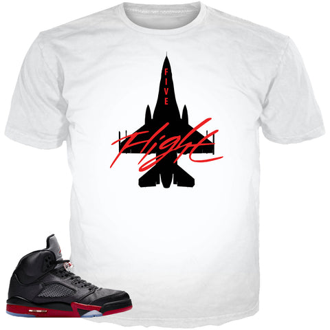 Satin Black 5 Jason Five WHITE TEE