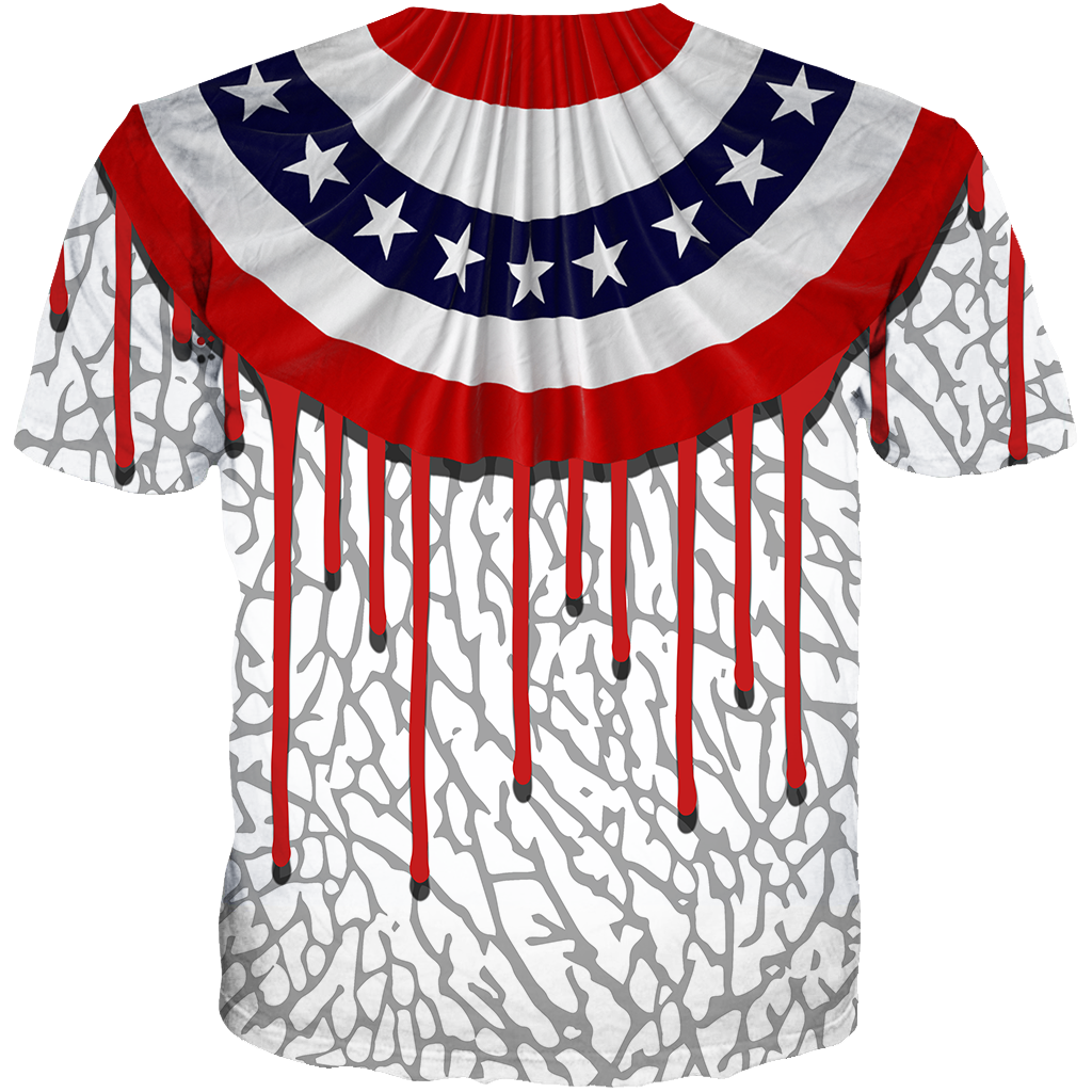 USA 3 Dripping America All Over Tee