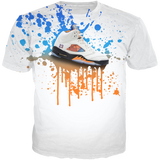 Barcelona 5 Shoe Splat WHITE TEE