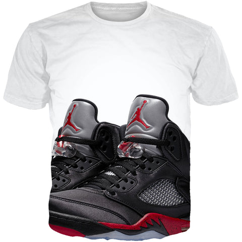 Satin Black 5 Kick King ALL OVER TEE