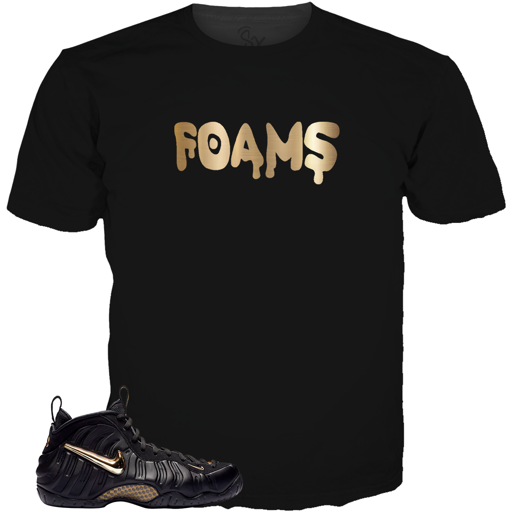 Black Gold Foams Drippy BLACK TEE
