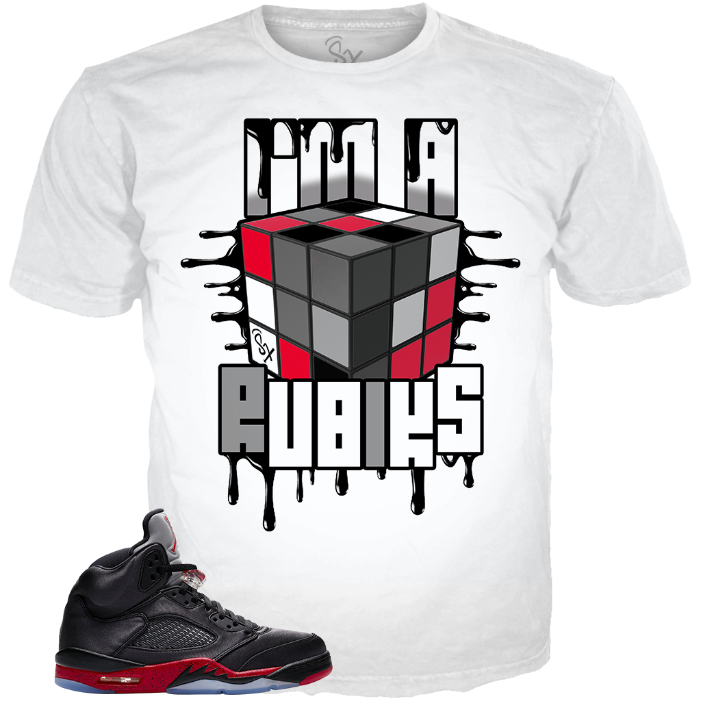 Satin Black 5 I'm A Rubiks WHITE TEE