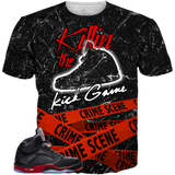 Satin Black 5 Killin The Kick Game ALL OVER TEE