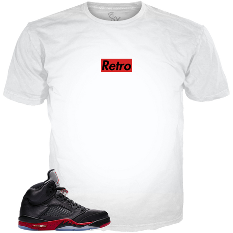 Satin Black 5 Shoe Horns WHITE TEE
