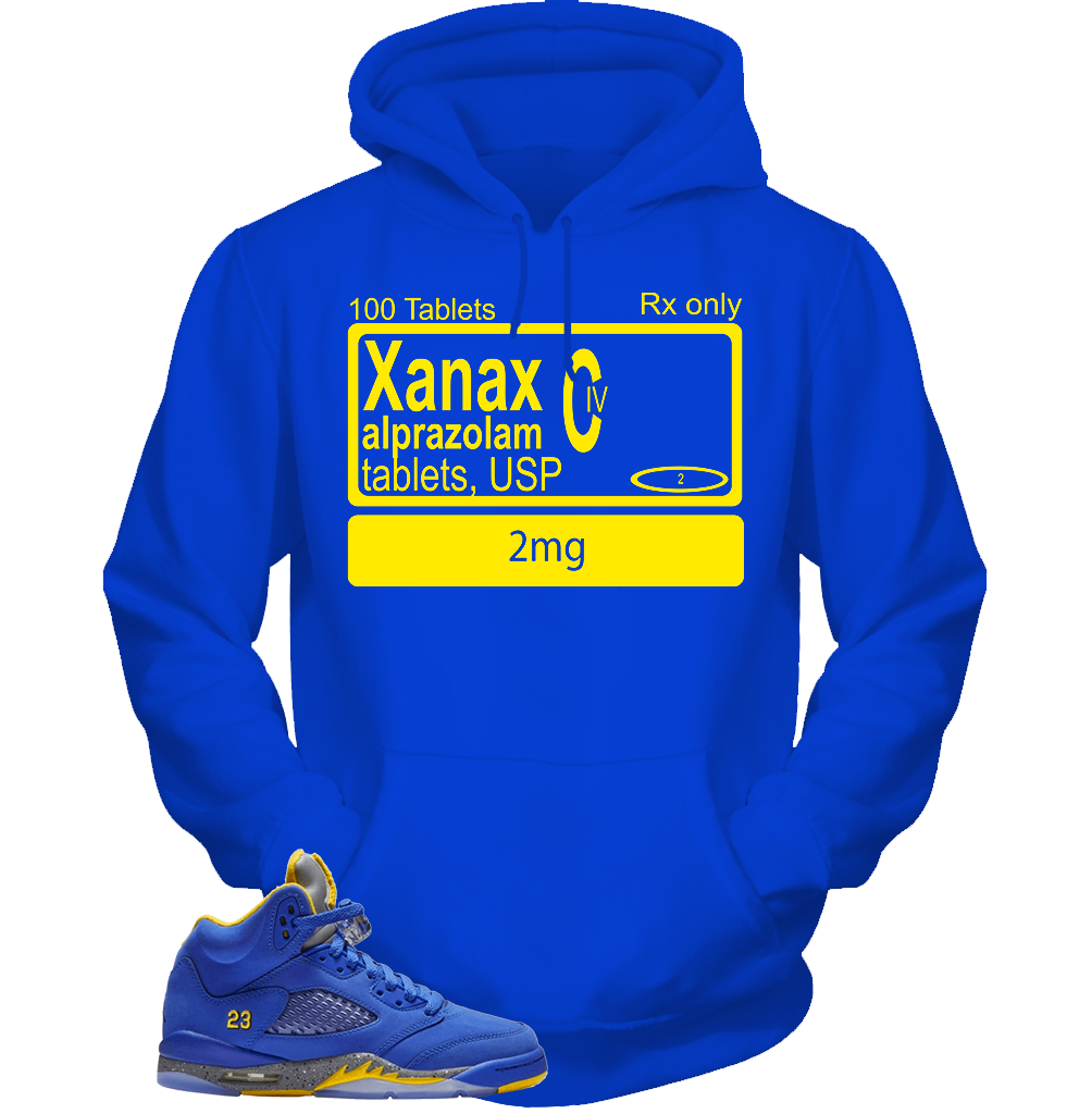 Blue Yellow 5 XLabel BLUE HOODIE