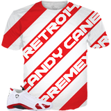 Candy Cane 14 Stripes ALL OVER TEE