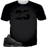 Cap and Gown 13 23 Black On BLACK TEE