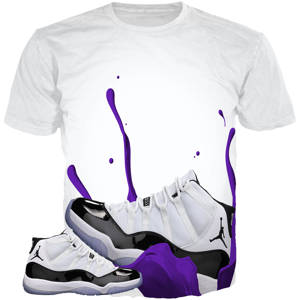 Concord 11 Shoe Dunk WHITE TEE