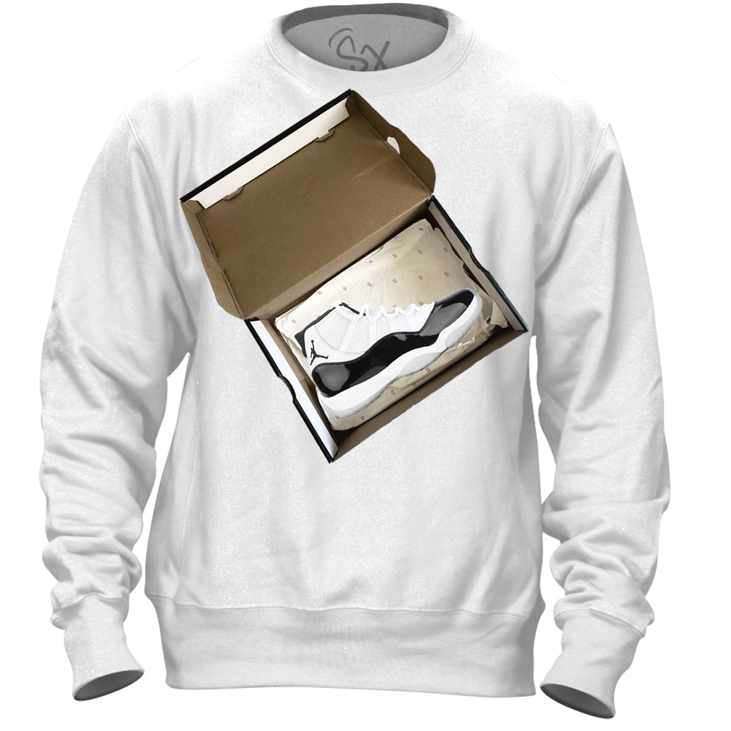 concord 11 SHoebox White SWEATSHIRT