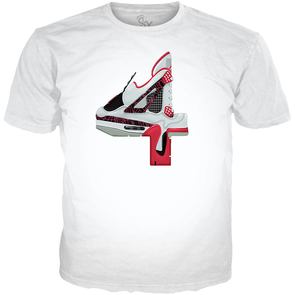 Light Crimson 4 Number ALL OVER TEE