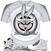 Flint Grey 6 Bunny Bull ALL OVER TEE