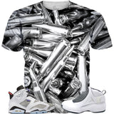 Flint Grey 6 Silver Bullets ALL OVER TEE