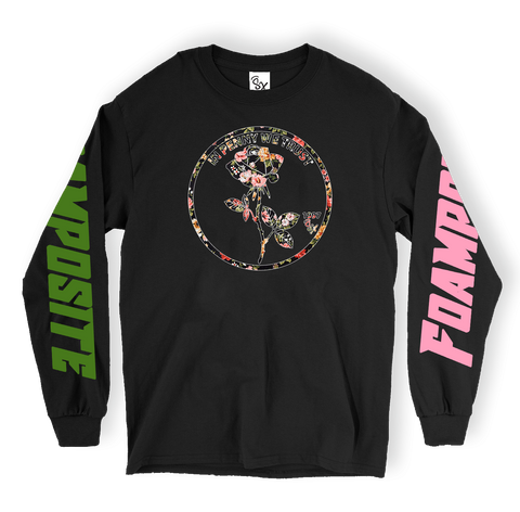 Floral Foams Roses Logo LONG SLEEVE TEE