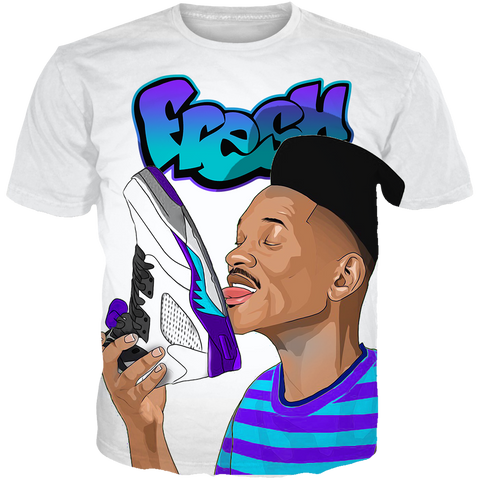 Fresh Prince 5 Brains WHITE TEE