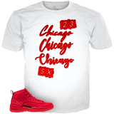 Gym Red 12 Chicago 23 WHITE TEE