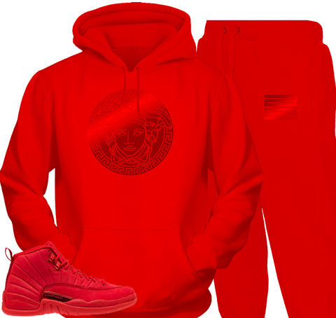 Gym Red 12 Collage WHITE HOODIE