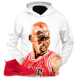 Gym Red 12 Oil WHITE HOODIE