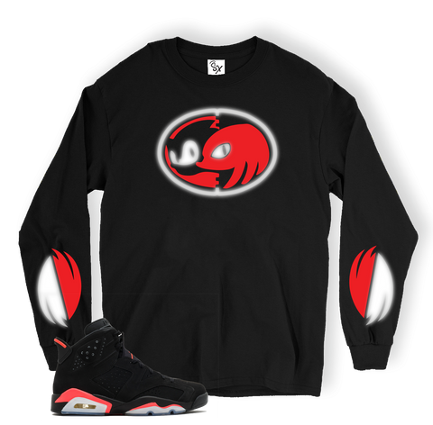 592faa77ecd Infrared 6 Knuckles BLACK LONG SLEEVE TEE
