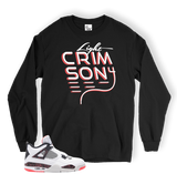 Light Crimson 4 Son LONG SLEEVE BLACK TEE