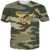 Olive Gold Camo 23 Bull TEE