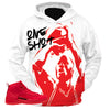 Copy of Gym Red 12 One SHot WHITE HOODIE