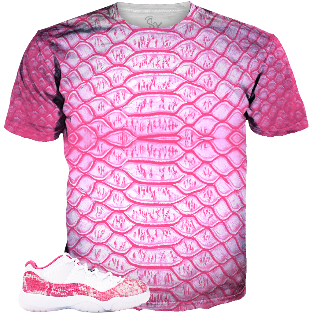 0ecf8db15ff Pink Snakeskin 11 Scales ALL OVER TEE – SupremeXpressions