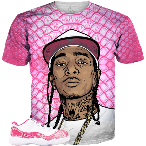 86200002e18 Pink Snakeskin 11 Nipsey Hat ALL OVER TEE