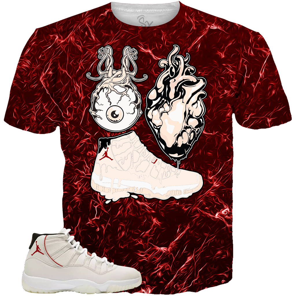 Platinum 11 Eye Heart Kicks ALL OVER TEE