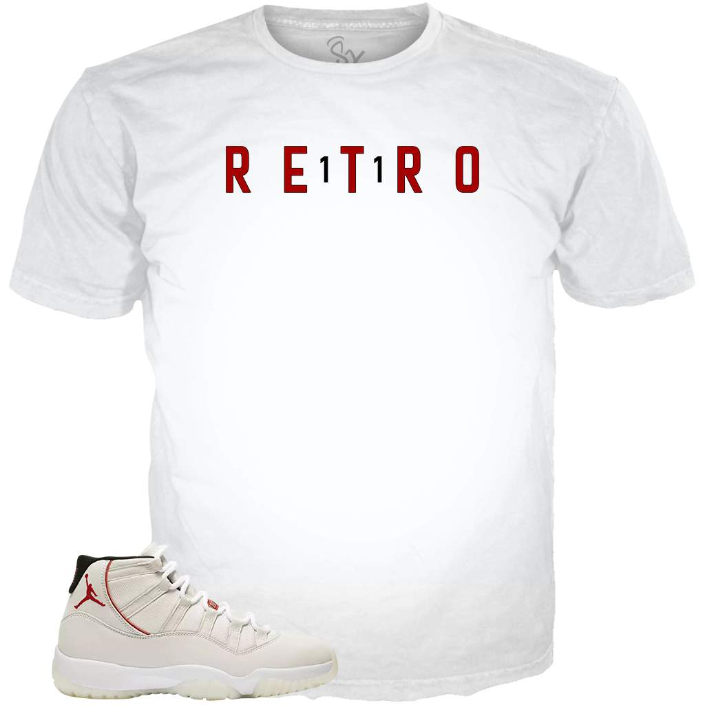 Platinum 11 Retro WHITE TEE