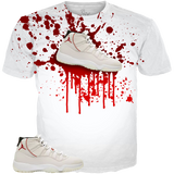 Platinum 11 Shoe Splat WHITE TEE