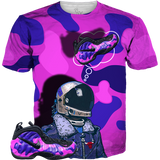 Purple Camo Foams Aviation Mind ALL OVER TEE