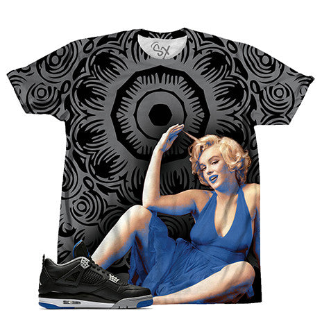 Black Royal Floral Monroe TEE - SupremeXpressions