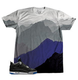 Black Royal Mountains TEE - SupremeXpressions