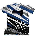 Black Royal Zags and Stars TEE - SupremeXpressions