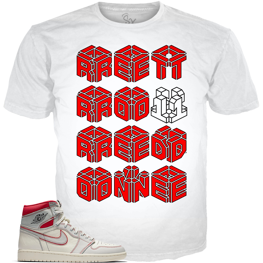 Sail Red 1 ret one WHITE TEE