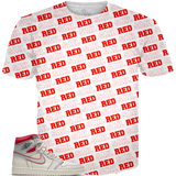 Sail Red 1 Word Pattern ALL OVER TEE