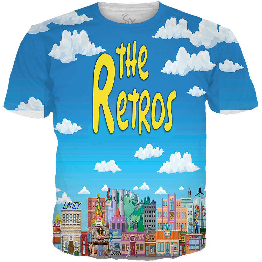 Blue Yellow 5 The Retros All Over TEE