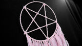 INVERTED PENTAGRAM Dream Catcher (Light pink)